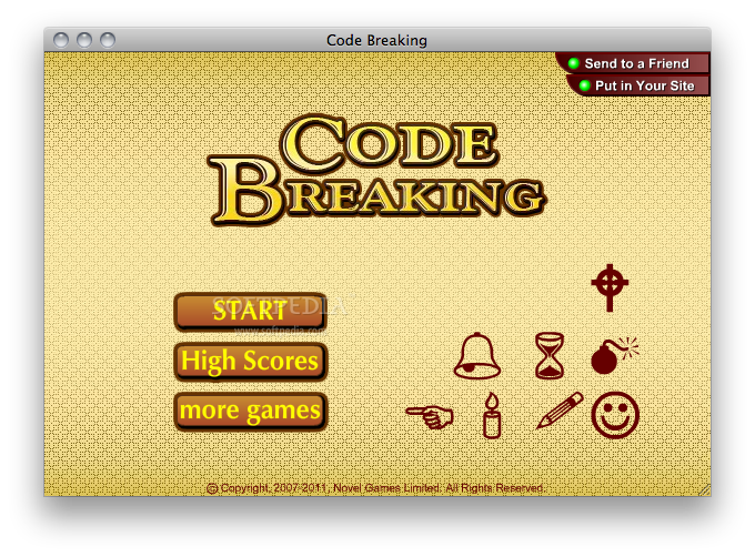 Code Breaking screenshot 2 - The main menu of the game.