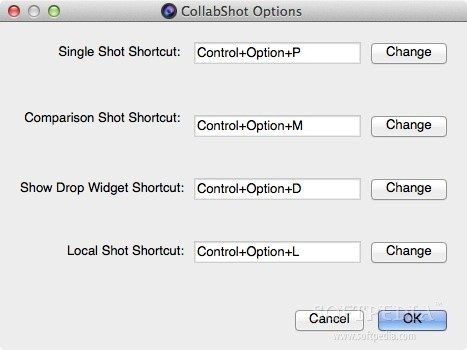 CollabShot screenshot 4 - You may also change the default keyboard shortcut.