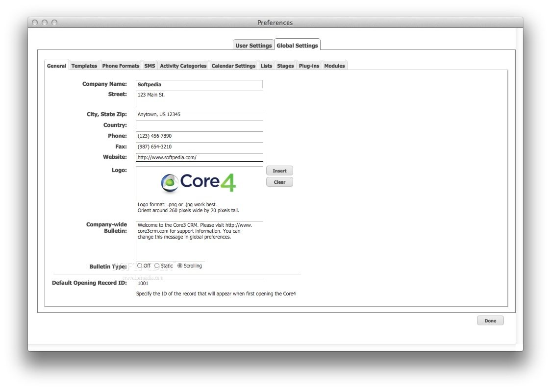 Core4 CRM screenshot 8