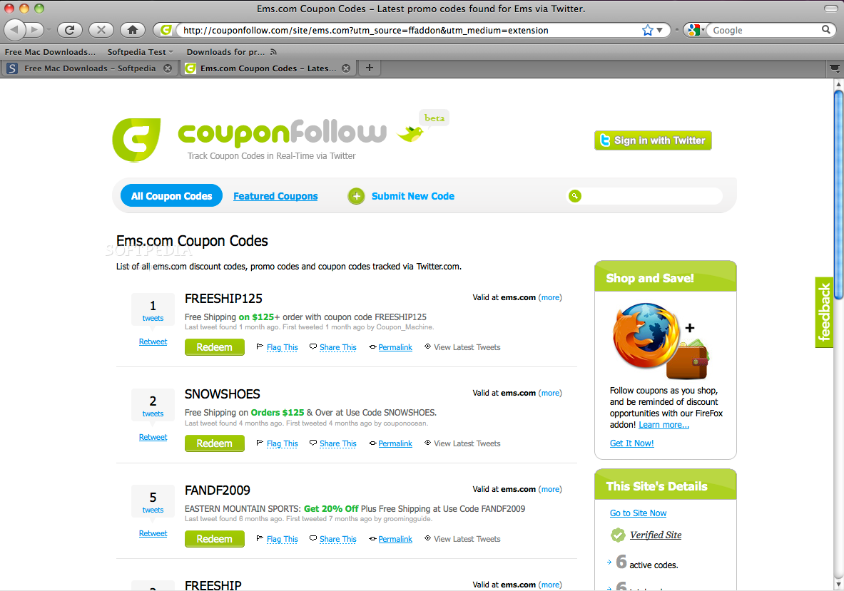 CouponFollow screenshot 1 - The add-on will identify the coupons on the online shops that you visit.