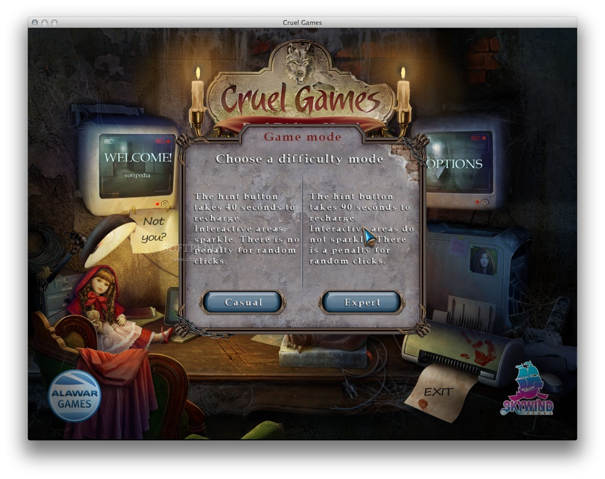 Cruel Games: Red Riding Hood screenshot 3 - You can easily select the game mode.