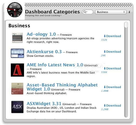 Dashboard Categories screenshot 1