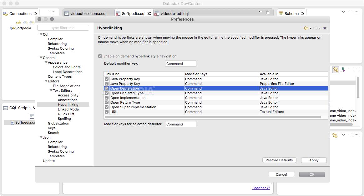 DataStax DevCenter Mac 1 6 0 - Download