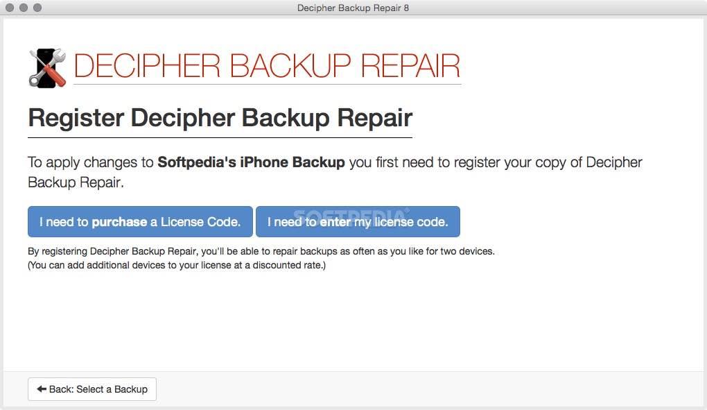 Decipher Backup Repair Mac 12 2 10 - Download