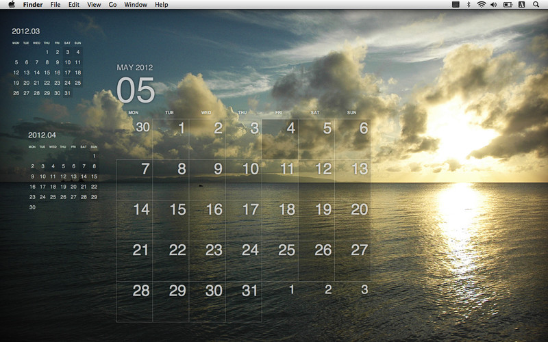 Desktop Calendar Plus screenshot 1