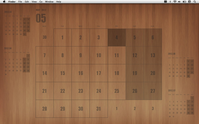 Desktop Calendar Plus screenshot 2