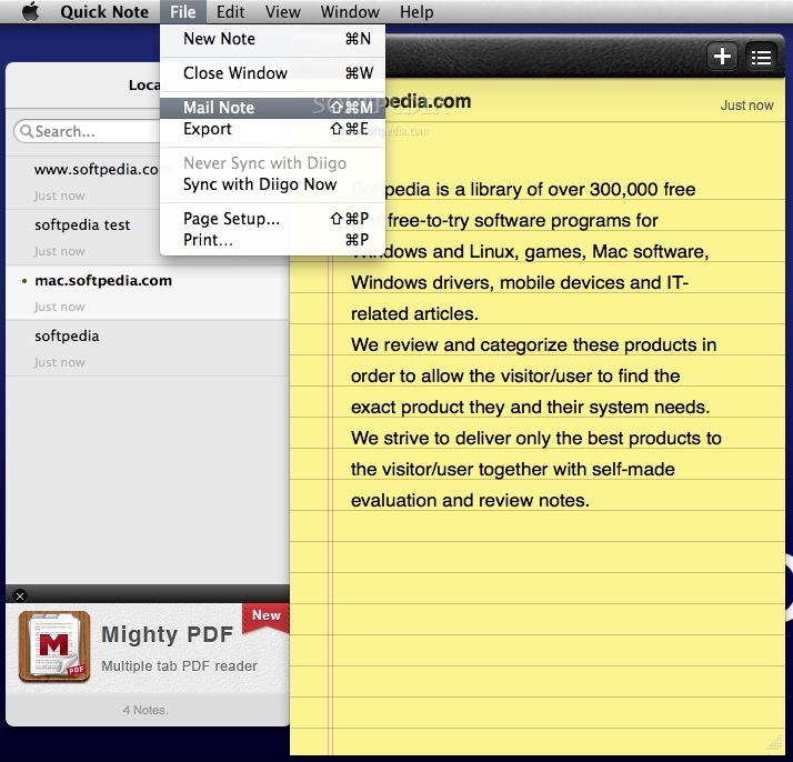 how to get notes on new mac