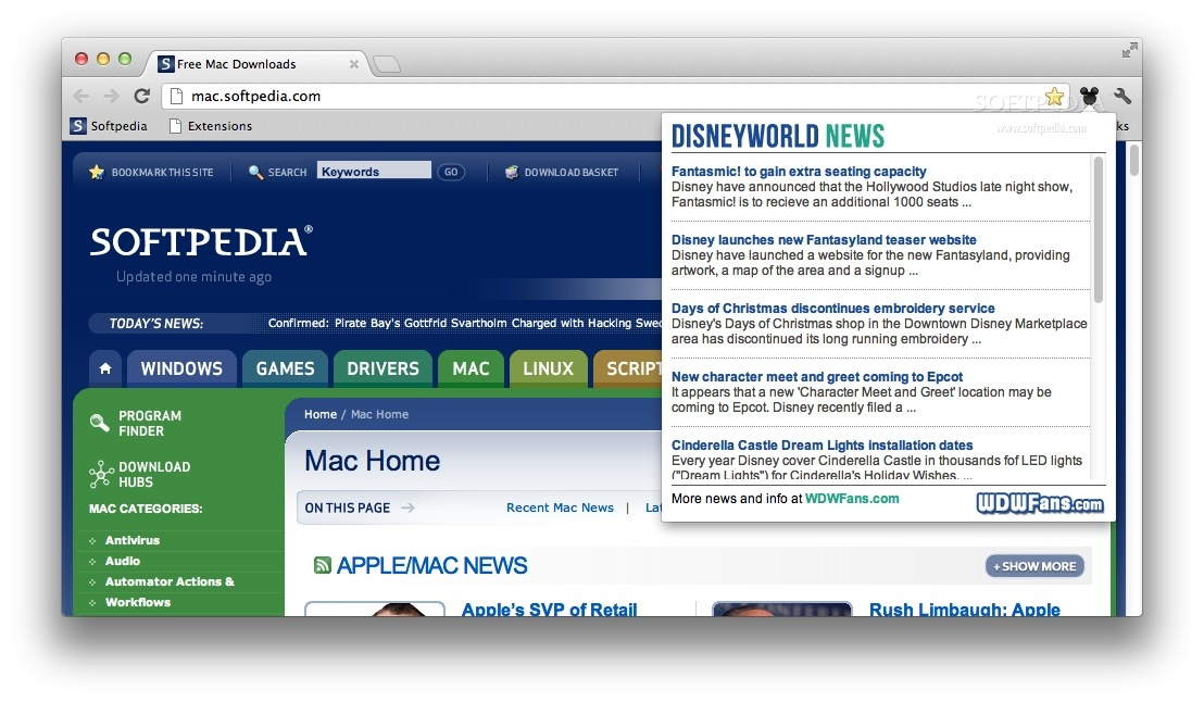 Disney World News screenshot 1 - Read the latest Disney news right from your toolbar.