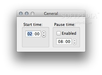 Download Scheduler screenshot 3 - You can set the start time and pause time from the preferences.