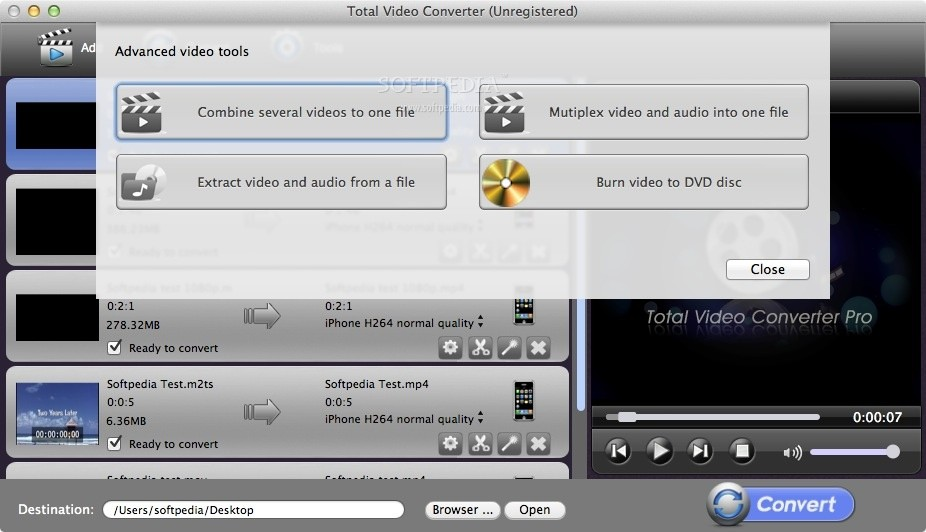 Total Video Converter Pro screenshot 2