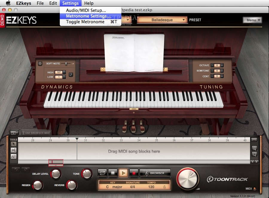 EZkeys Upright Piano screenshot 4
