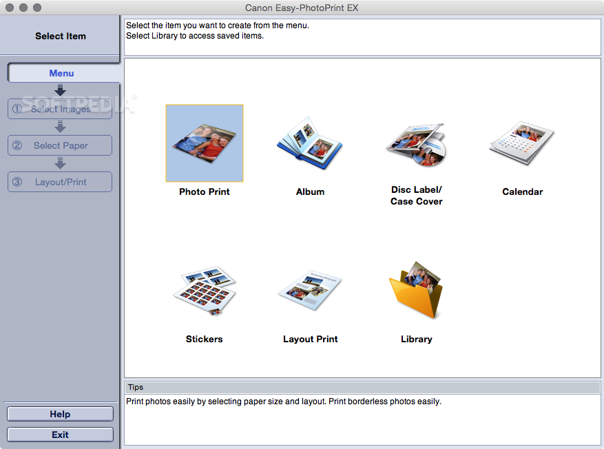 Canon easy photoprint ex update for mac