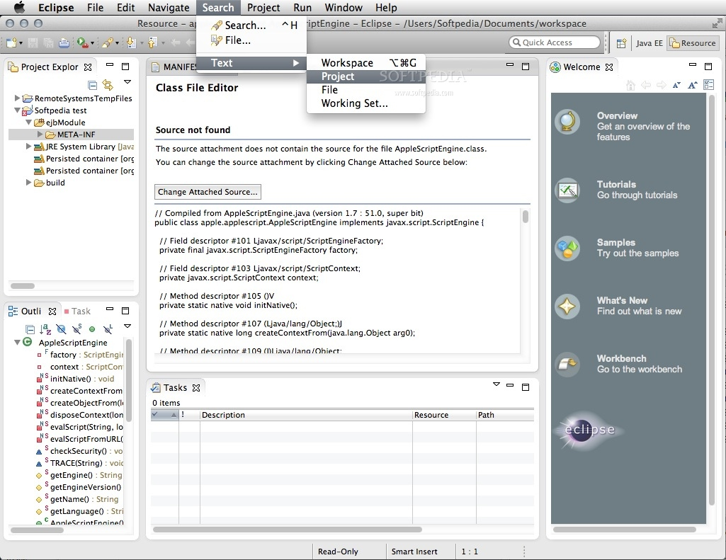 Eclipse IDE for Java and DSL Developers Mac 1 5 1 - Download