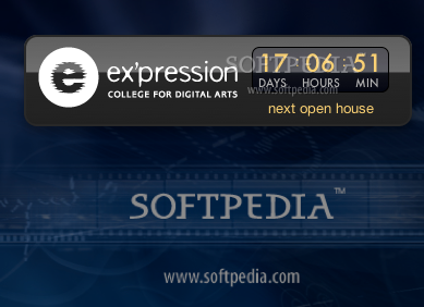 Ex'pression College Open House Countdown screenshot 1 - On the front face of the widget you can see the counter.