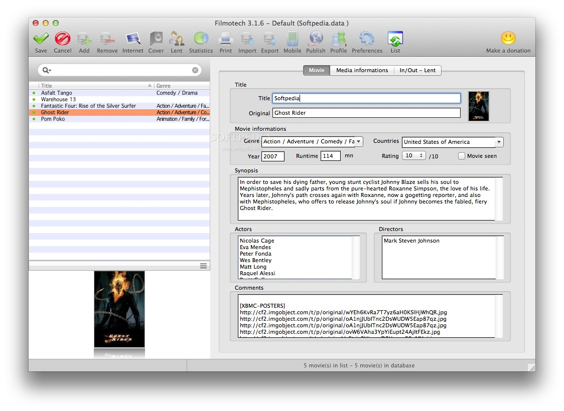 eXtreme Movie Manager  Features  BinaryWorksit Software