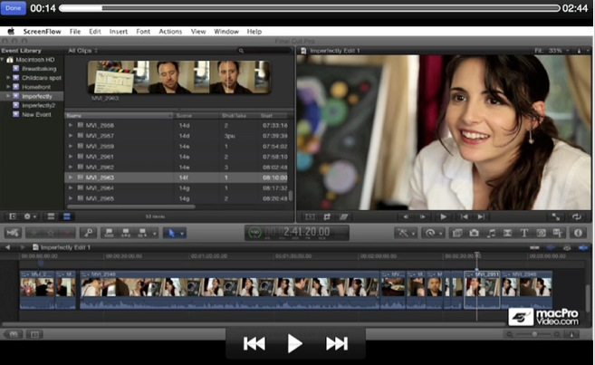 how to split screen in final cut pro 7