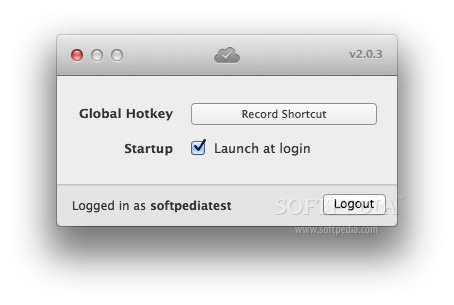 Flow screenshot 2 - In the Preferences window you can choose the Global hotkey for the application.