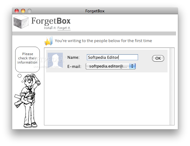 ForgetBox screenshot 2 - Setting your own name.