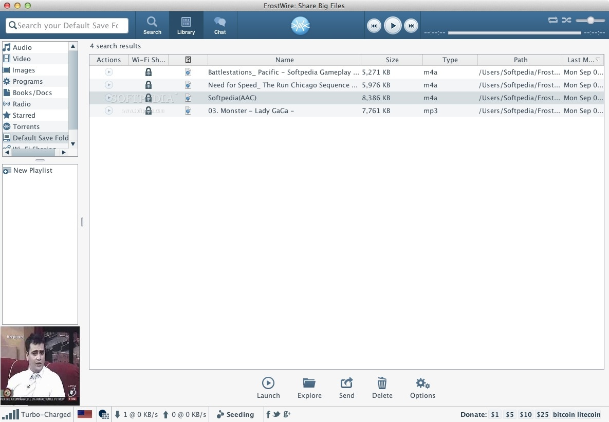 FrostWire Mac 6 8 2 Build 288 - Download