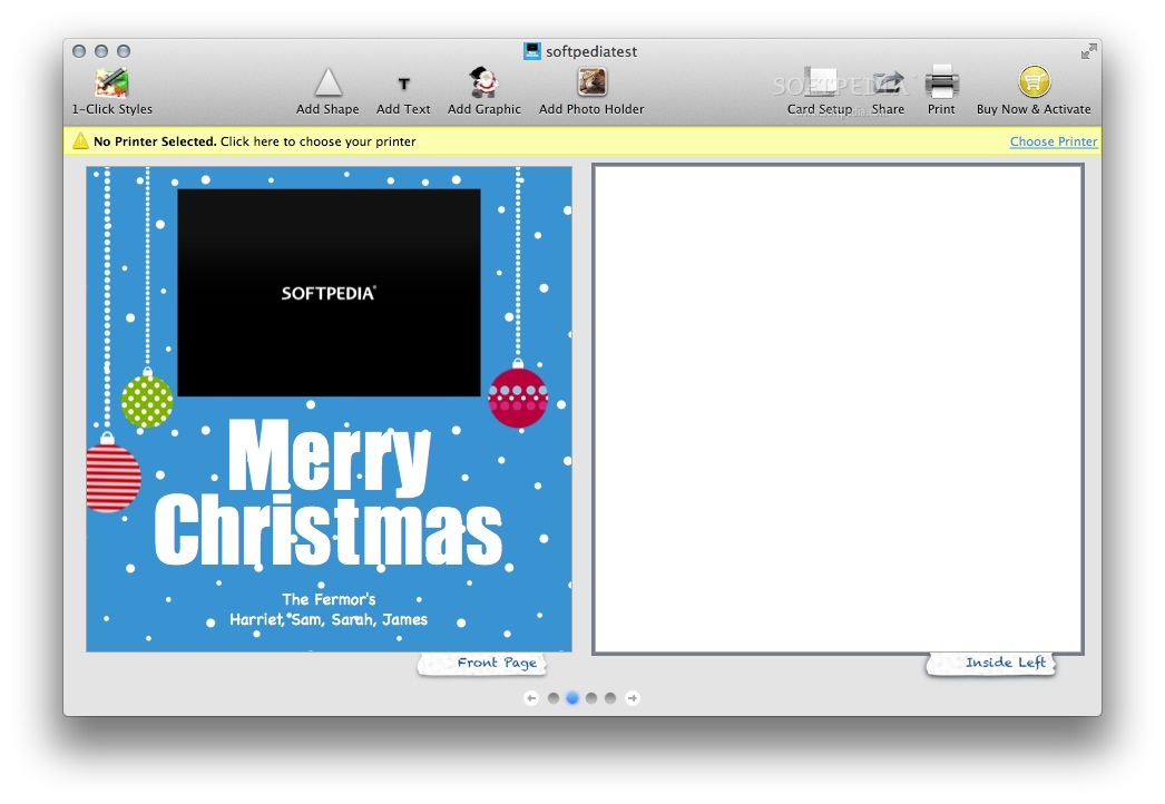 Fun Greetings Deluxe screenshot 3 - You can easily customize and personalize the card template.