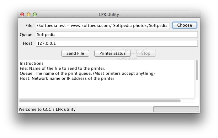 GCC File Send Utility screenshot 1