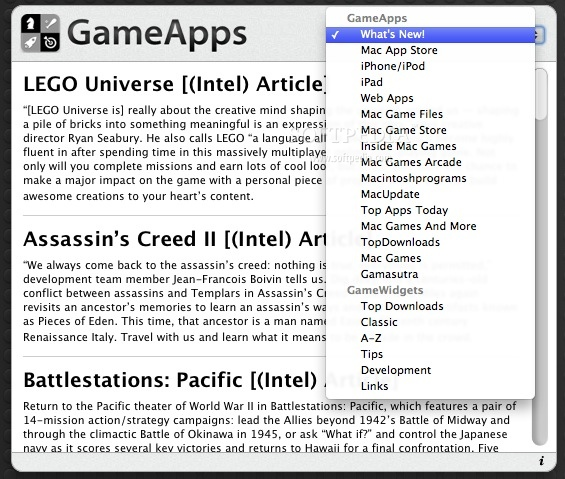 GameApps screenshot 2