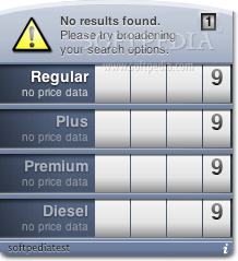 Gas screenshot 1 - The main window where you can see the gas price according to your location.
