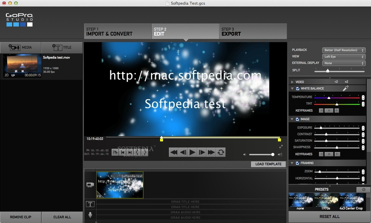 Download gopro quik formerly gopro studio mac 2 7 for Gopro studio templates download