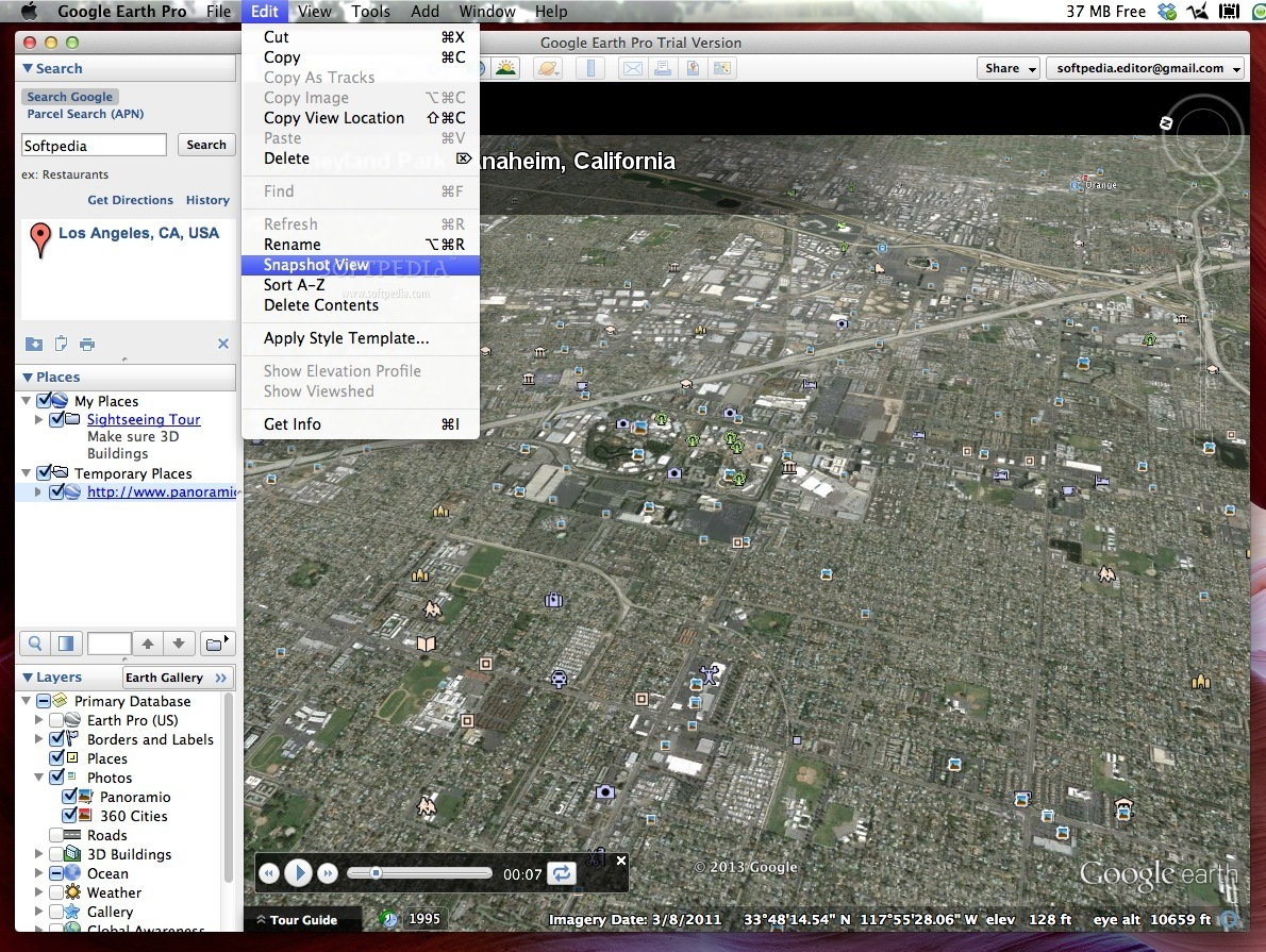 how to take screen shot in google earth pro