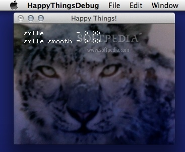 Happy Things screenshot 1 - The main window where you can view the camera feed.