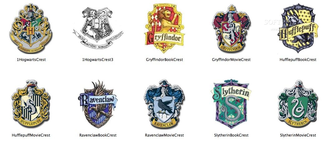 Icons Harry Potter Mac Harry Potter House Crest Icons