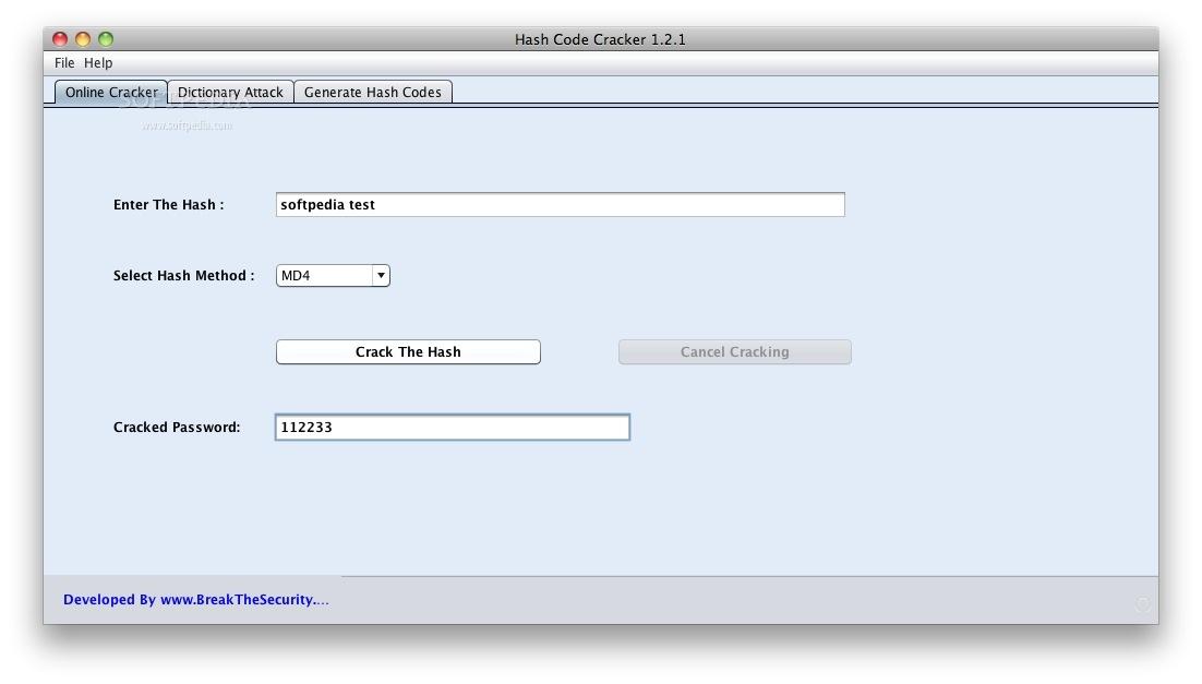 Hash Code Cracker Mac 1 2 1 - Download