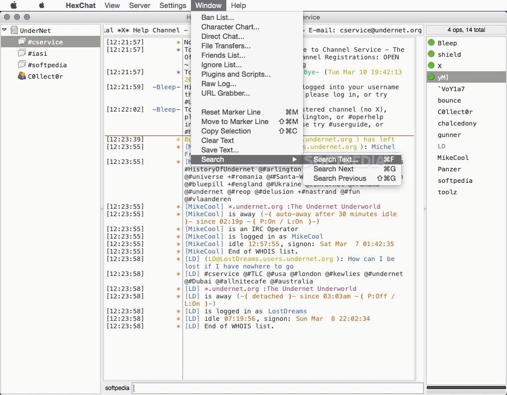 HexChat Mac 2 10 2 - Download