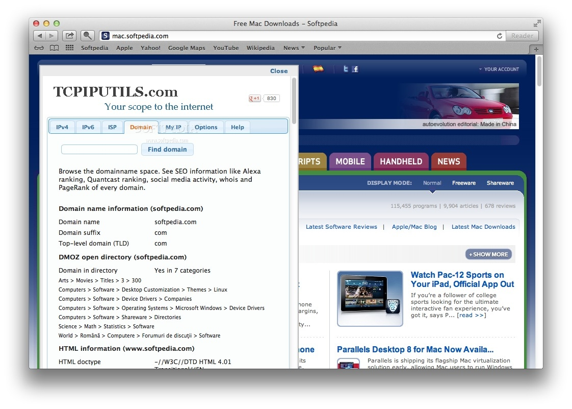 IP Address and Domain Information screenshot 3