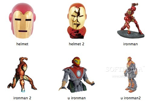 Iron Man Icons screenshot 1 - You can preview the icons included in the collection.