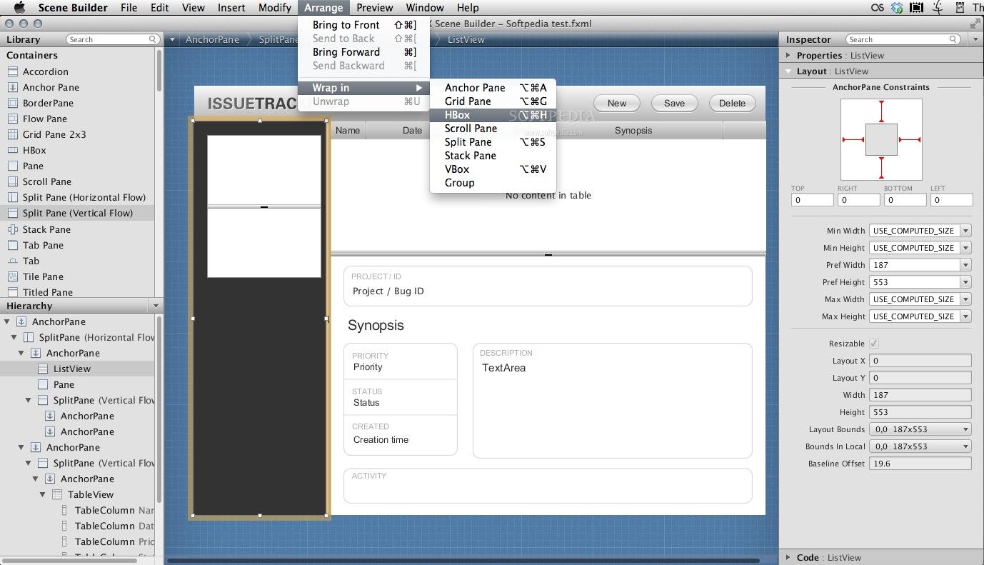 JavaFX Scene Builder Mac 1 1 - Download