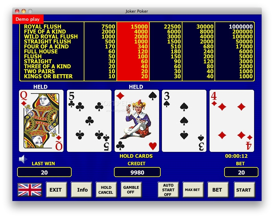 casino play online free joker poker