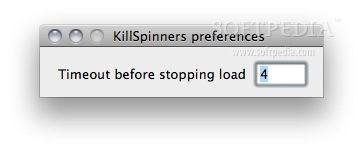 KillSpinners screenshot 2 - You can set the time at which the webpage to stop here.
