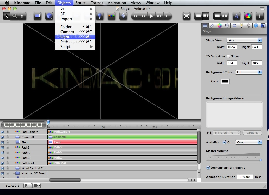 Kinemac 3d Real Time Animation Software For Mac Thinbeare