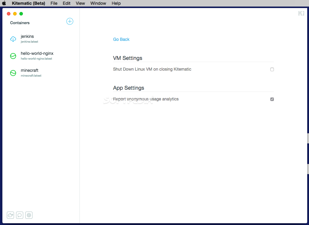 Kitematic Docker Mac