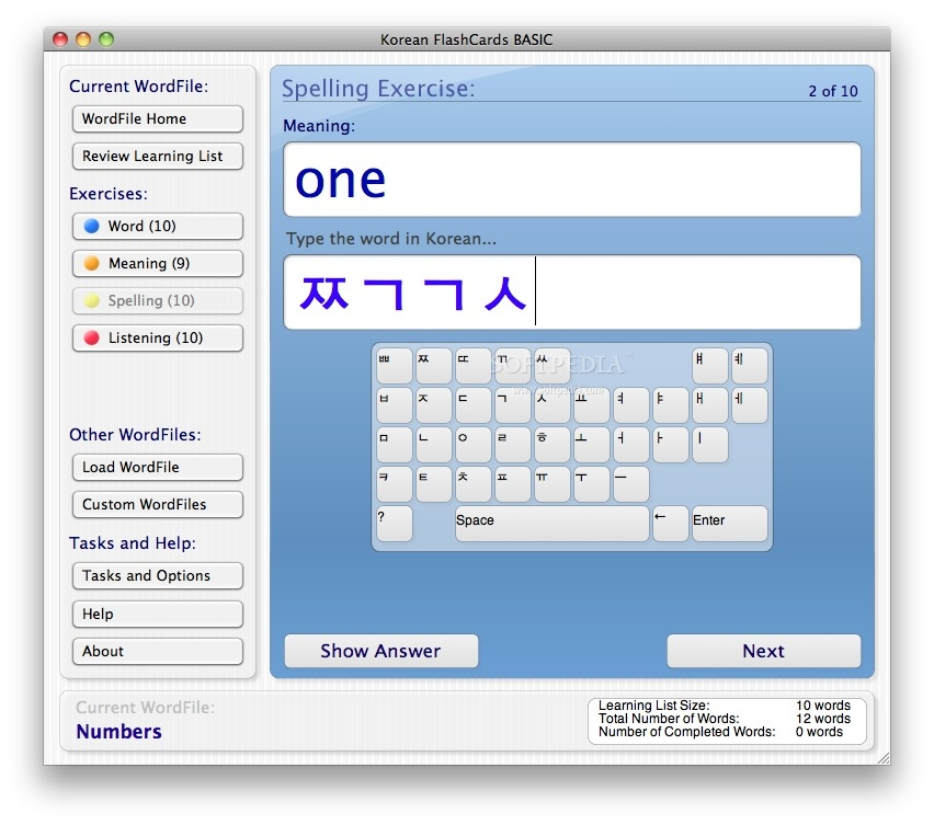 Korean FlashCards screenshot 4