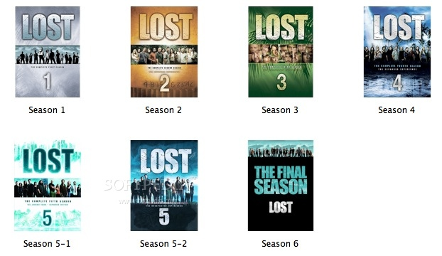 LOST Season Folders screenshot 1 - The folder replacement icons included in the collection.