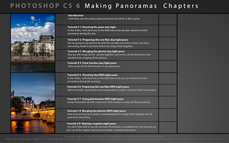 Learn How to Shoot and Make Panoramas Photoshop CS6 Edition screenshot 3