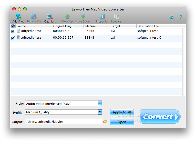 Leawo Free Mac Video Converter Download