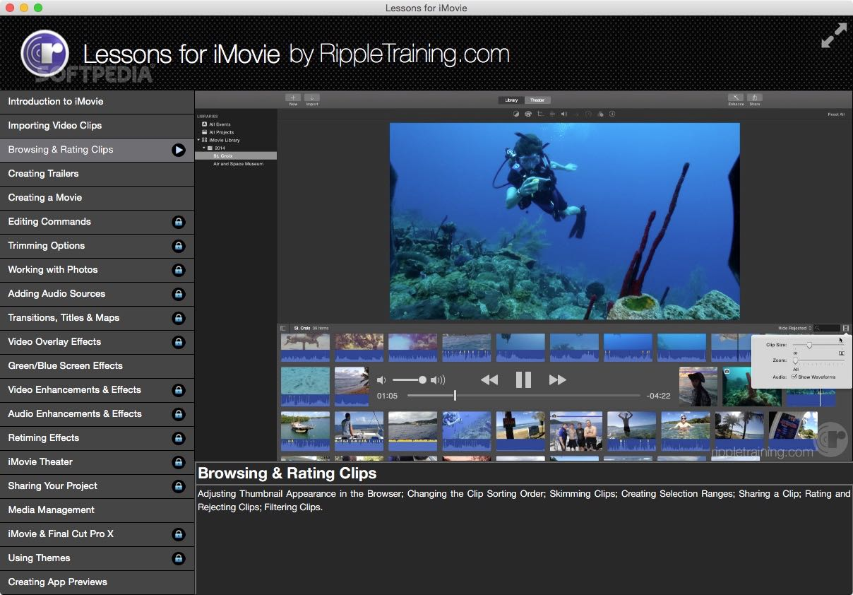 Lessons for iMovie Mac 2 2 4 - Download
