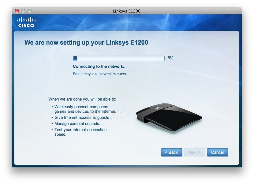 What is default password of Linksys E3200 router?