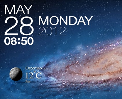 Galaxy live wallpaper for macbook air