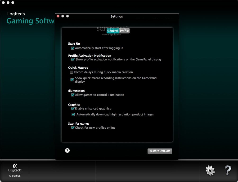 Logitech Gaming Software Mac 9 00 20 - Download