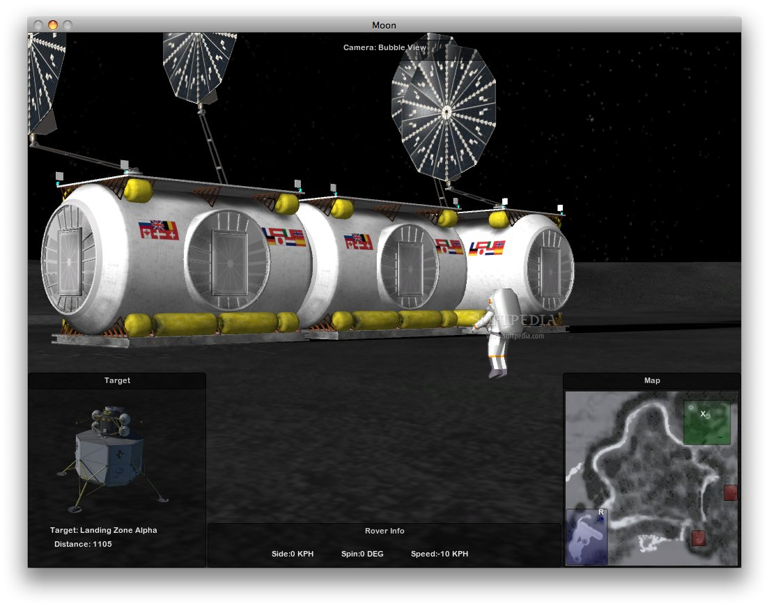 Lunar Rover Simulator screenshot 3 - The center of the expedition.