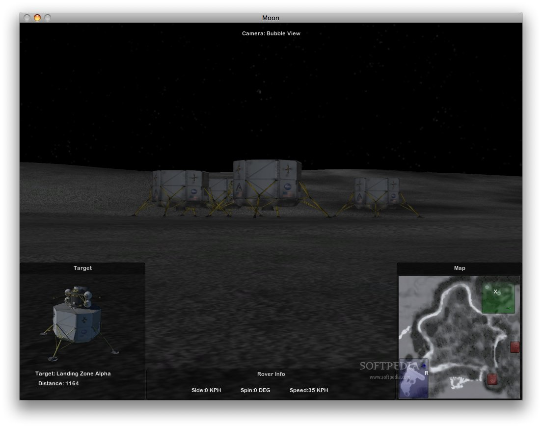 Lunar Rover Simulator screenshot 4 - The landing zone.